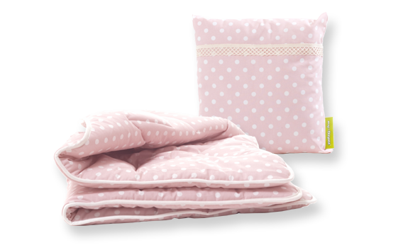 Coussin / Couverture rose