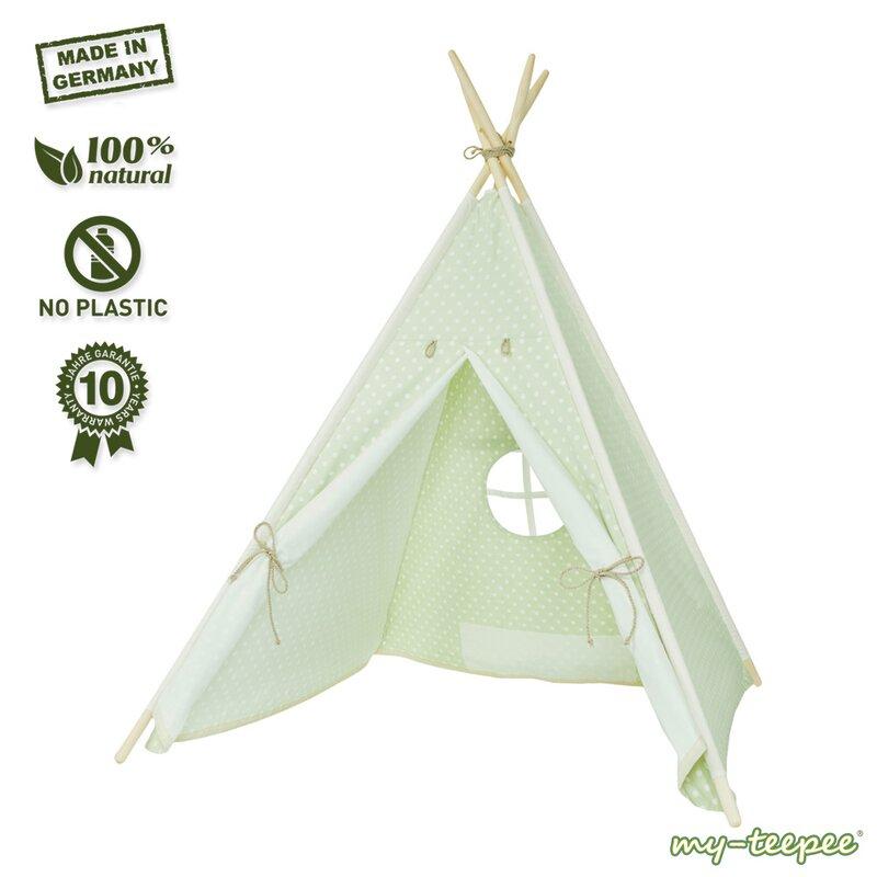 my-teepee Kinder-Spielzelt grün